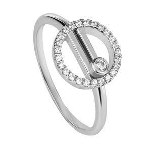 Silver Cat Moderní stříbrný prsten se zirkony SC330 58 mm