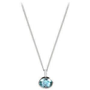 Silver Cat Něžný náhrdelník s modrým krystalem SC262 (řetízek, přívěsek)