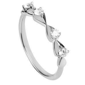 Silver Cat Něžný stříbrný prsten se zirkony SC323 54 mm
