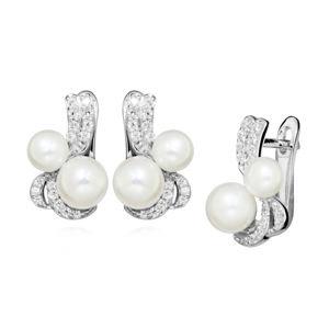Silver Cat Okouzlující náušnice s perlami a zirkony SC423