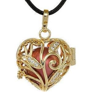 MUMMY BELL-Těhotenská rolnička Pozlacený náhrdelník Rolnička Srdíčko K13ZC18