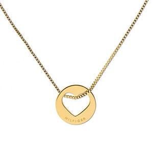 Tommy Hilfiger Dámský pozlacený náhrdelník se srdcem TH2701075