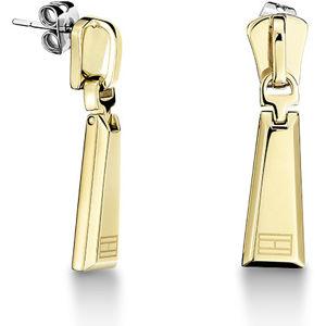 Tommy Hilfiger Pozlacené ocelové náušnice ve tvaru zipu TH2700754