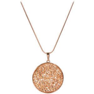Troli Bronzový náhrdelník Rocks Golden Shadow