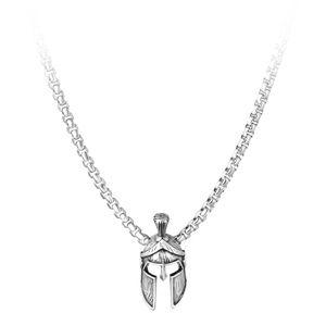 Troli Designový pánský náhrdelník s rytířskou přilbou