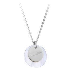 """Troli Elegantní ocelový náhrdelník s přívěsky písmeno """"J"""""""