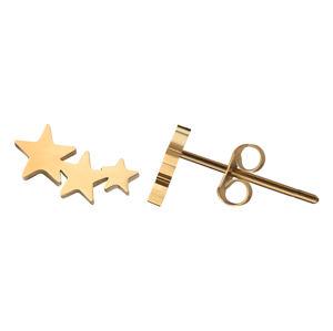 Troli Moderní pozlacené náušnice s hvězdičkami
