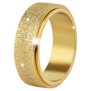 Troli Ocelový snubní prsten zlatý/třpytivý 67 mm