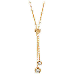 Troli Pozlacený ocelový náhrdelník s krystaly