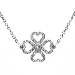 Vuch Moderní náhrdelník s krystaly Liny Silver
