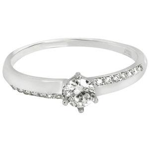 Brilio Zlatý zásnubní prsten s krystaly 229 001 00762 07 56 mm